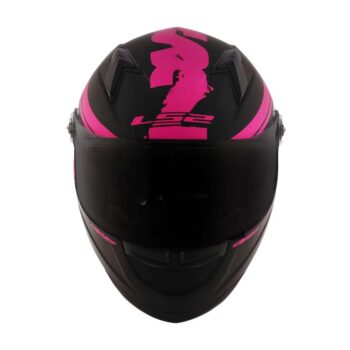 Capacete LS2 FF358 Fluo Matt Black/Pink