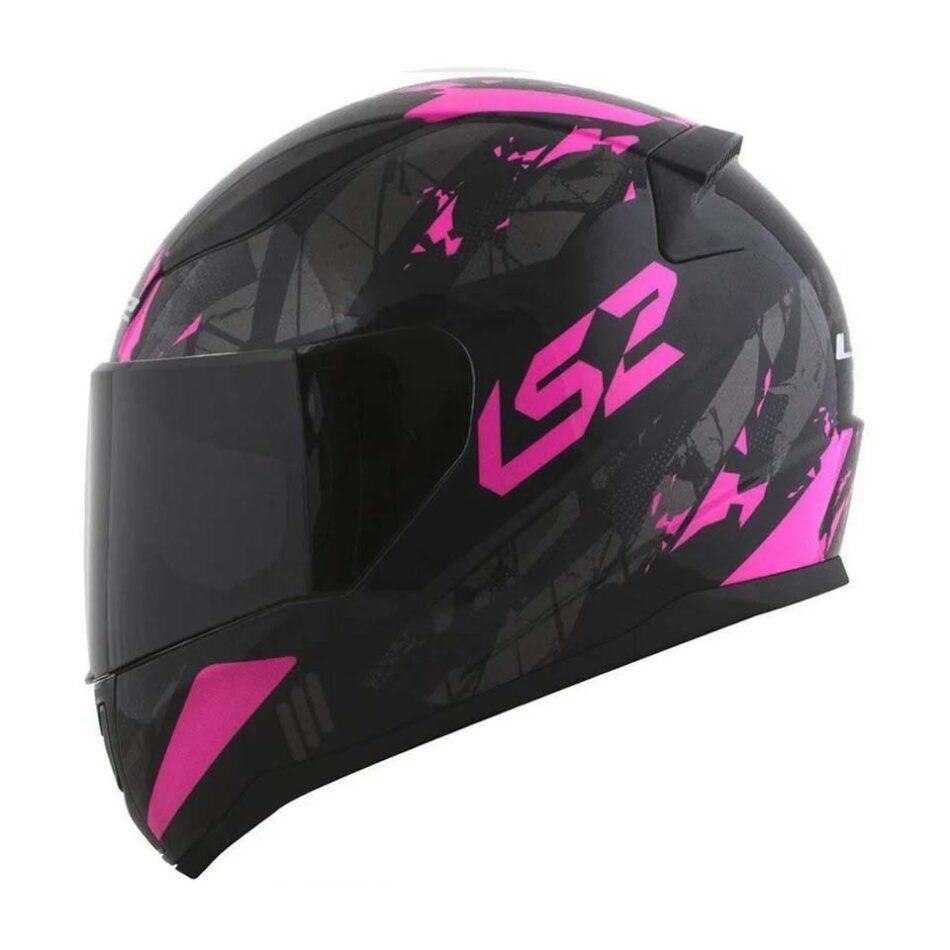 Capacete LS2 FF353 Rapid Palimnesis Black/Pink