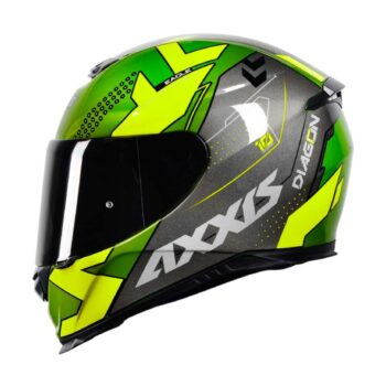 Capacete Axxis Eagle Diagon Gloss Green/Grey/Yellow
