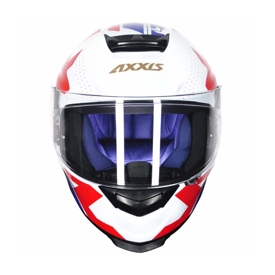 Capacete Axxis Eagle Diagon Gloss Wht/Blue/Red