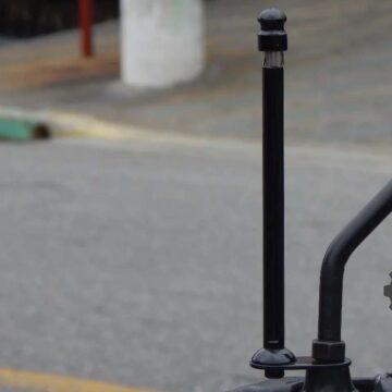 Antena Corta Pipa Motofer Retrovisor Preta