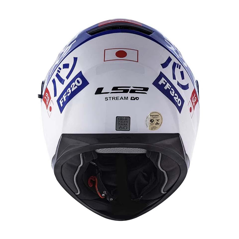 Capacete LS2 FF320 Stream Sukeban White/Blue/Red