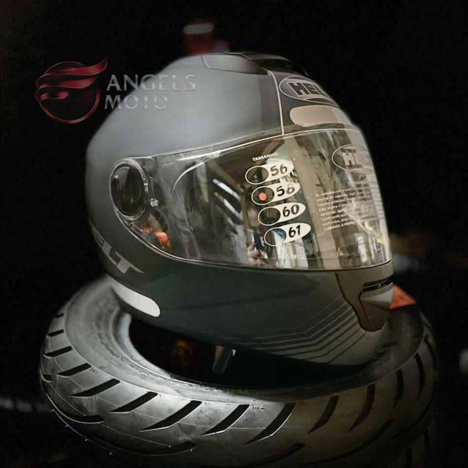 Capacete Helt New Race Glass Matt/Blk