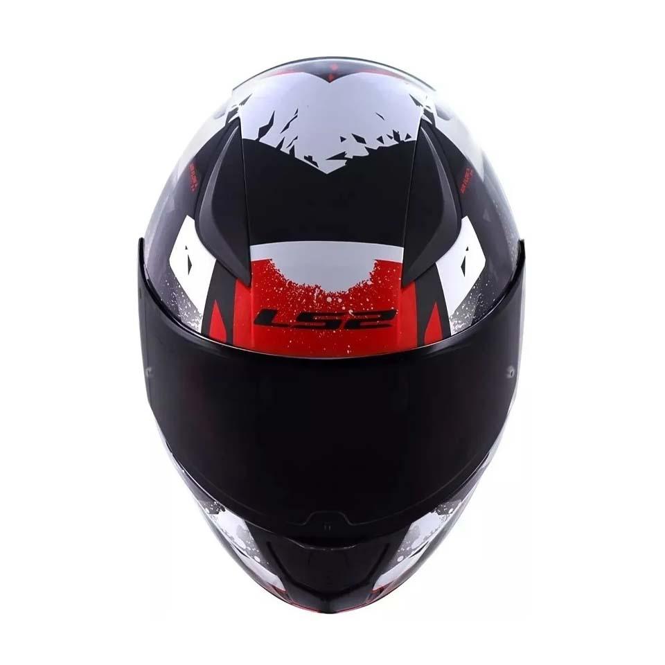 Capacete LS2 FF353 Rapid Grow Black Silver Red