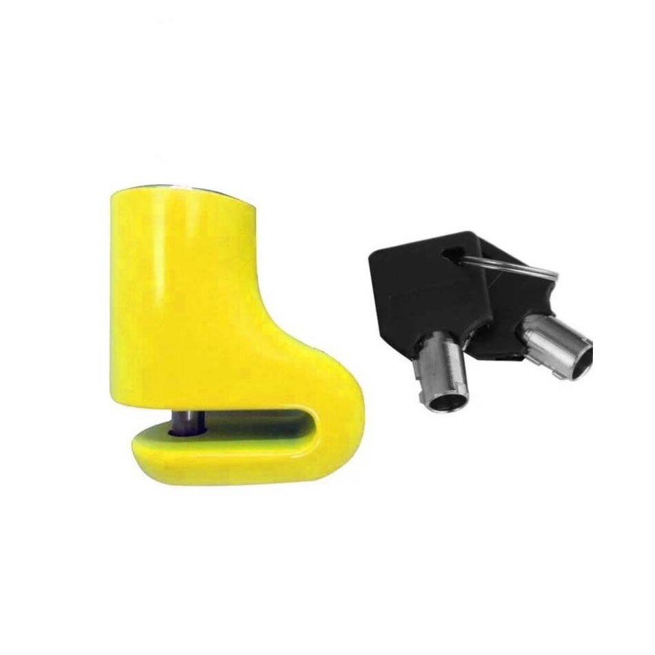 Cadeado Disco Pequeno KGA Amarelo