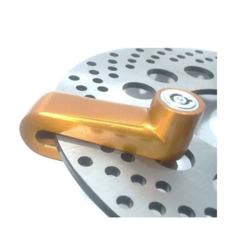Cadeado Disco Grande KGA Dourado