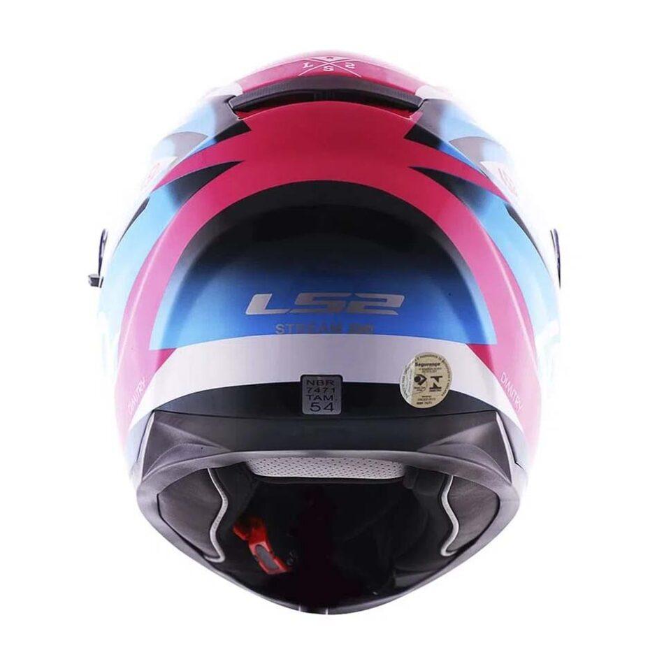 Capacete LS2 FF320 Stream Dimitry Pink Blue White