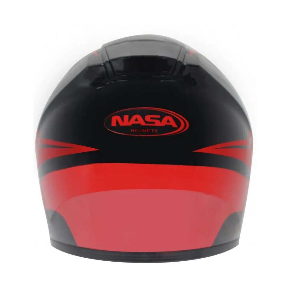 Capacete Nasa NS 901 Lava Preto Vermelho