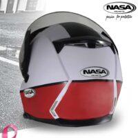 Capacete-Nasa-NS-1001-Route-Branco-Vermelho-2