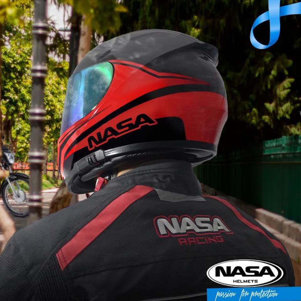 Jaqueta Nasa Race Way Preta Vermelha