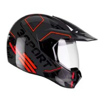 Capacete-Bieffe3-Sport-Drax-Preto-Chumbo-Vermelho-3