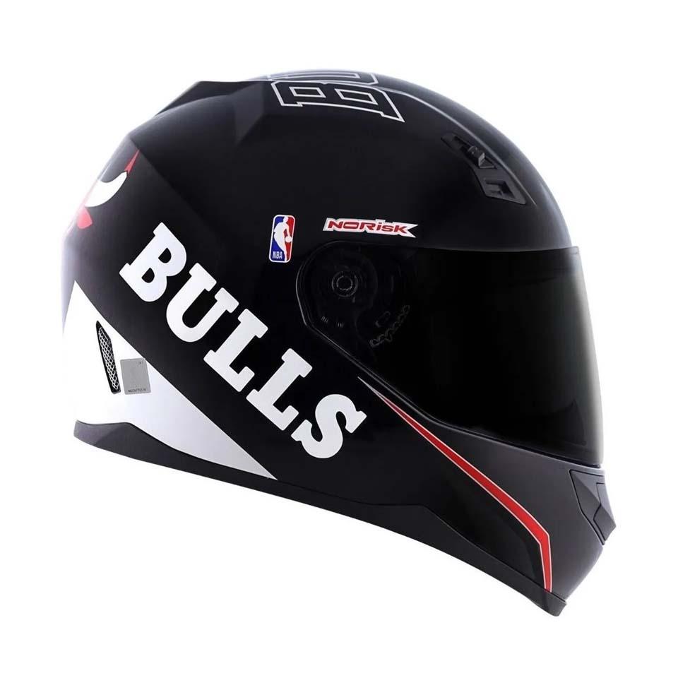 Capacete Norisk FF391 Chicago Bulls Preto