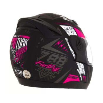 Capacete Pro Tork Evolution G6 Factory Racing Neon Preto fosco Rosa
