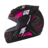 Capacete-Pro-Tork-Evolution-G6-Factory-Racing-Neon-Preto-fosco-Rosa