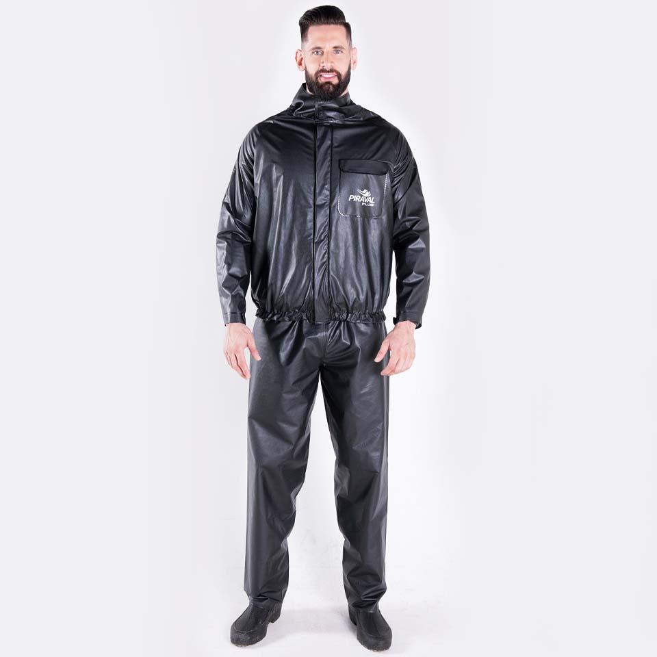 Conjunto Chuva Piraval Plus PVC Preta Masculina