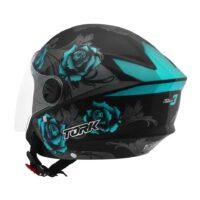 Capacete-Pro-Tork-New-Liberty-Three-Flowers-Preto-Azul