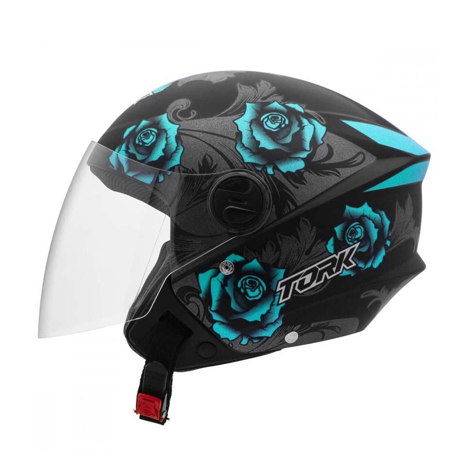 Capacete Pro Tork New Liberty Three Flowers Preto Azul