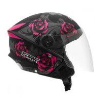 Capacete-Pro-Tork-New-Liberty-Three-Flowers-Preto-Rosa-3