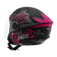 Capacete-Pro-Tork-New-Liberty-Three-Flowers-Preto-Rosa-6