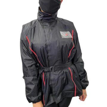 Conjunto Chuva Protector Nylon Vermelha Feminina