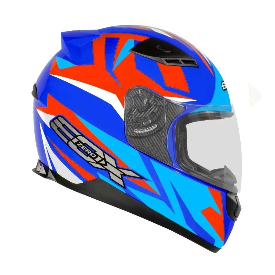 Capacete EBF E0X Colors Azul Twister
