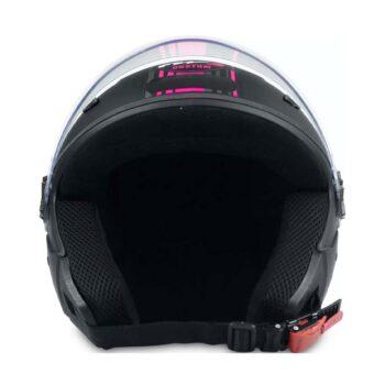 Capacete FW3 X Open Custom Preto Fosco Rosa