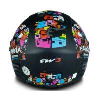 Capacete-FW3 X-Open-Favela-Preto-Fosco-3