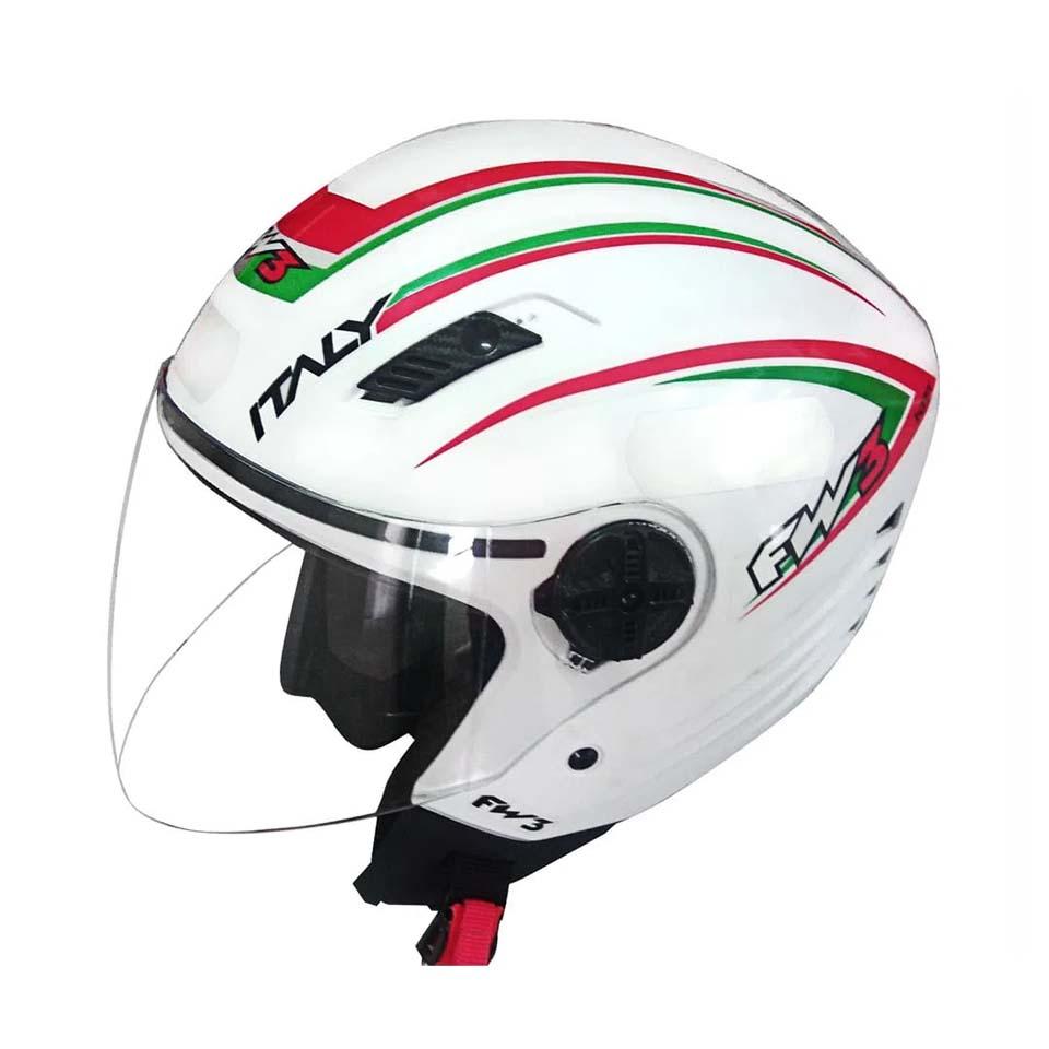 Capacete FW3 X Open Italy Branco