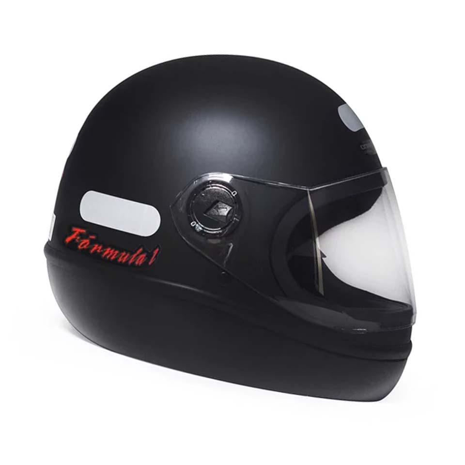 Capacete Taurus Fórmula 1 Classic Preto Fosco