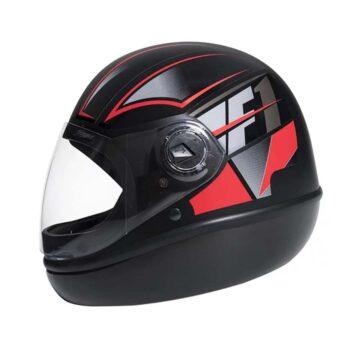 Capacete Taurus Fórmula 1 Neo Preto Fosco Vermelho