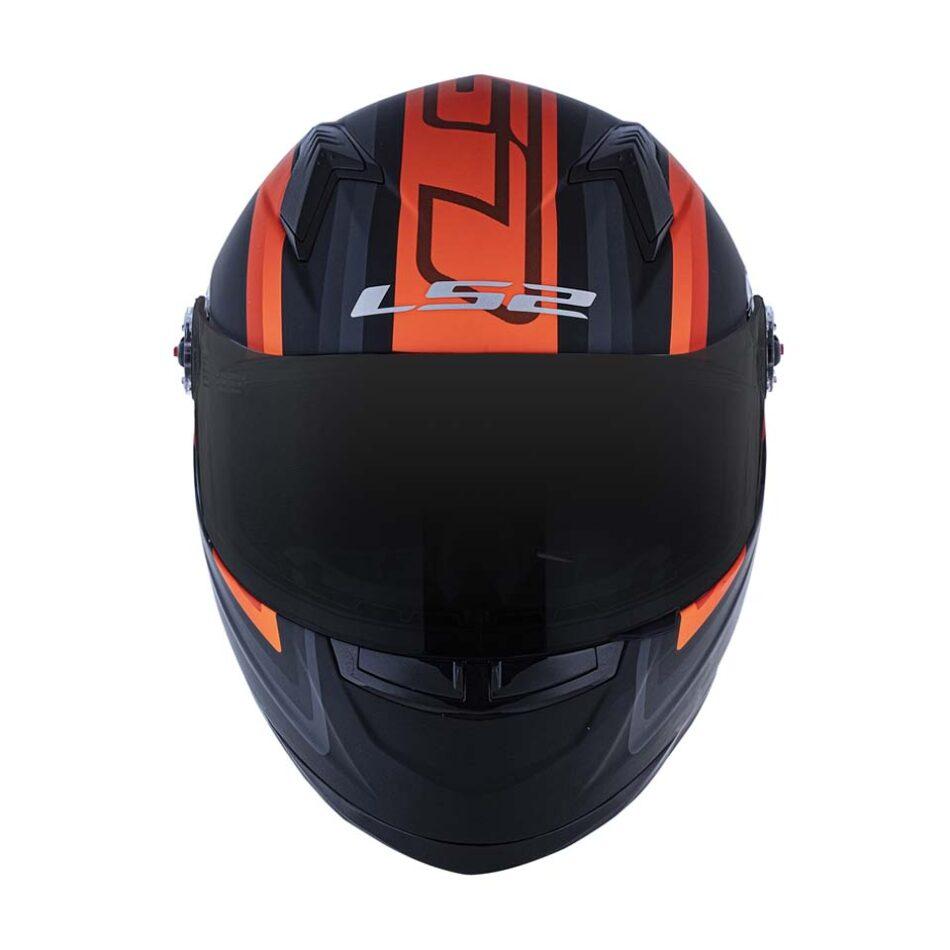 Capacete LS2 FF358 Sigma Matte Black Fluo Orange