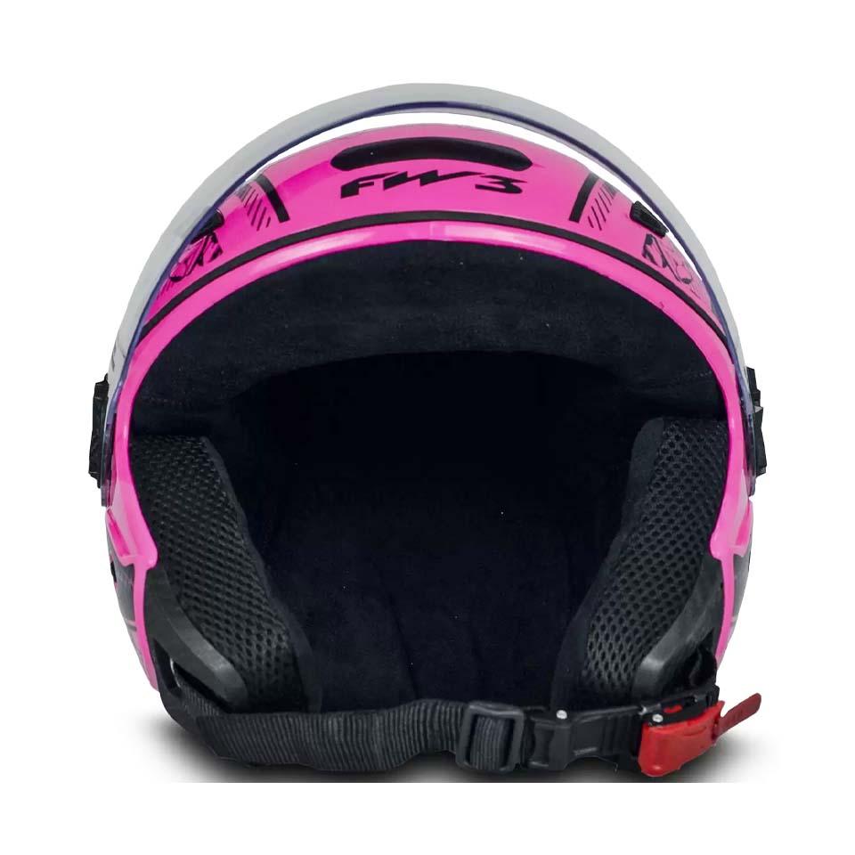 Capacete FW3 X Open Neon Rosa Ades Ella