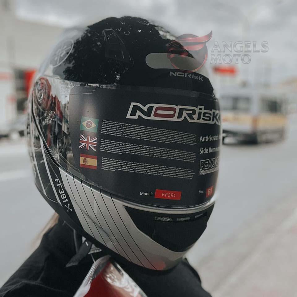 Capacete Norisk FF391 Knight Black Silver