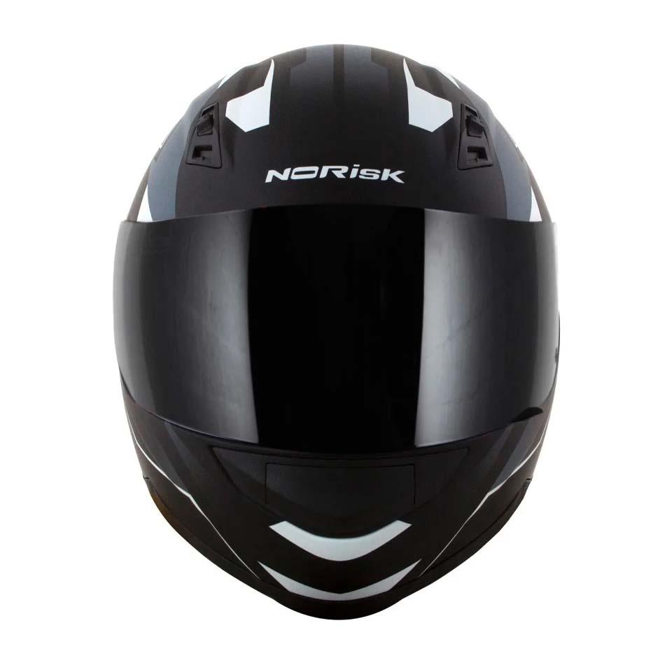 Capacete Norisk FF391 Stripes Matte Black Gry White