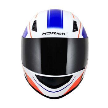 Capacete Norisk FF391 Night Breaker White Flo Orange Blue
