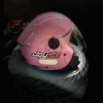 Capacete Taurus Joy23 Open Face Rosa
