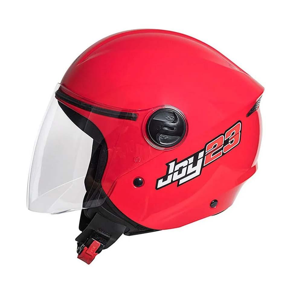 Capacete Taurus Joy23 Open Face Vermelho
