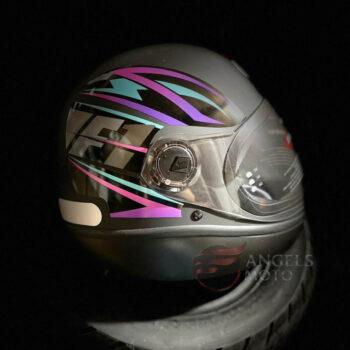 Capacete Taurus Fórmula 1 Storm Preto Fosco Rosa