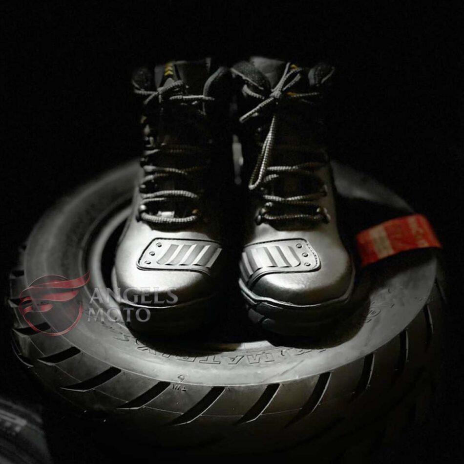 Bota Motocicle Cadarço 16100 Com Protetor Preta