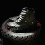 Bota Motocicle Elástico 16600 Com Protetor Preta