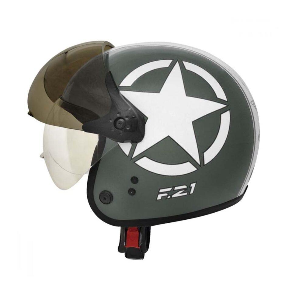 Capacete Peels F21 Us Army Verde Militar Branco