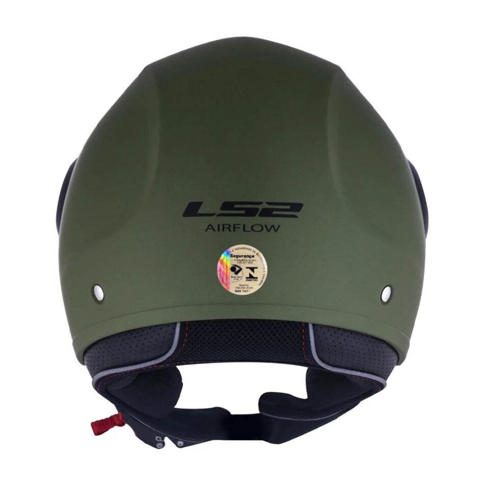 Capacete LS2 OF562 Airflow Monocolor Matte Military Grenn