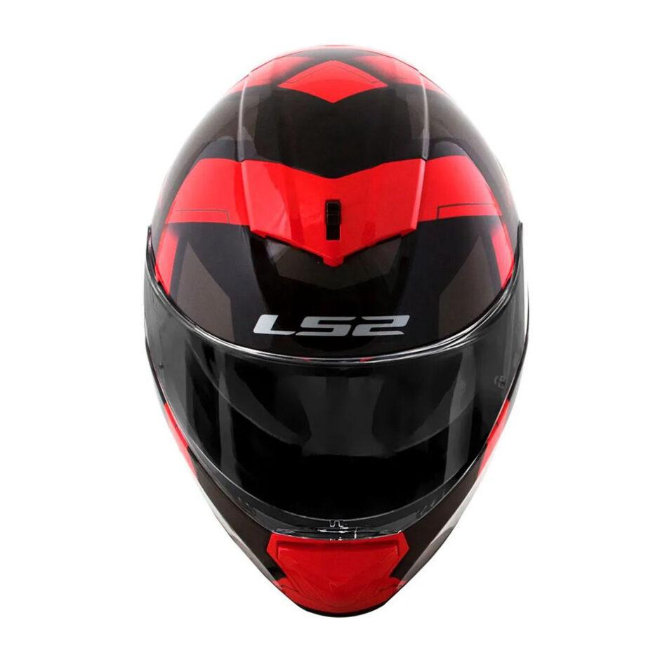 Capacete LS2 FF390 Breaker Physics Black Red