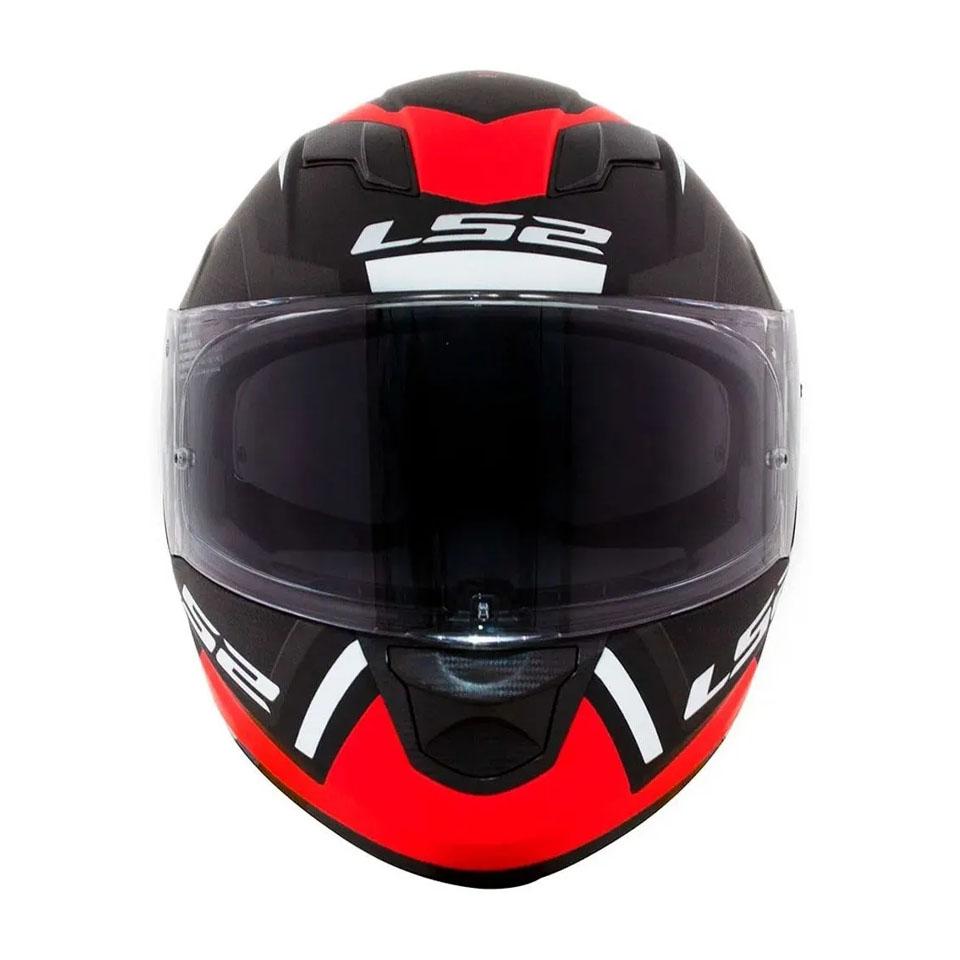 Capacete LS2 FF320 Stream Edge Matte Black Gry Red