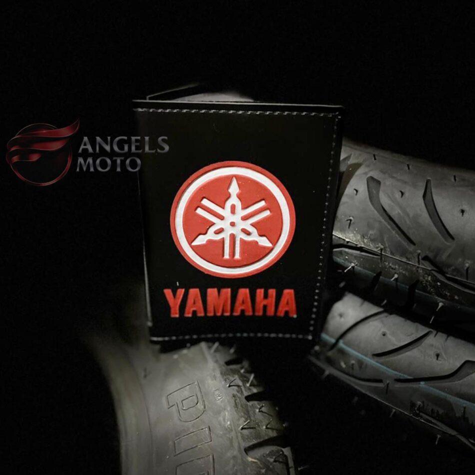 Carteira Porta Documento Motociclista Yamaha Vermelho Cinza
