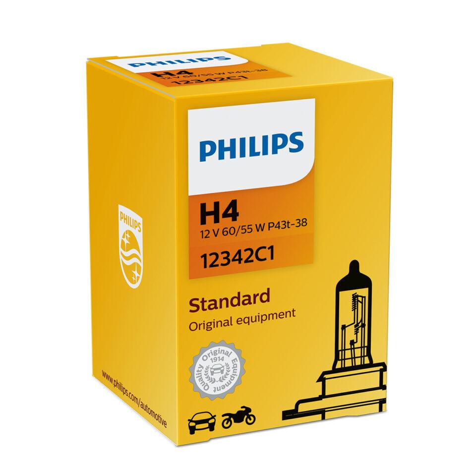 Lampada Farol Philips H4 12v 60/55w Standard (h4-12342-ci) Cb300r - Nx 400 Falcon - Nc700 - Cb500 - Shadow - Xre300