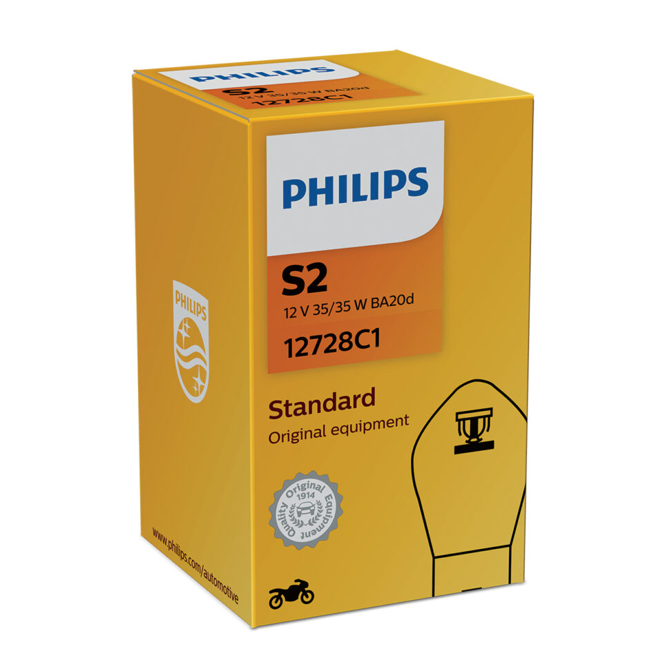 Lampada Farol Philips S2 12v 35/35w Standard Ba20d (12728c1) Suzuki Gsr 150i - Gs 120 - Intruder 150 13/ - Traxx Moby 50