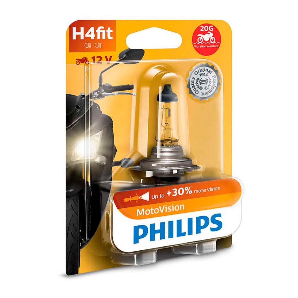 Lampada Farol Philips H4 12v 60/55w Motovision (12342mvb1) Cb300r - Nx 400 Falcon - Nc700 - Cb500 - Shadow - Xre300 - C
