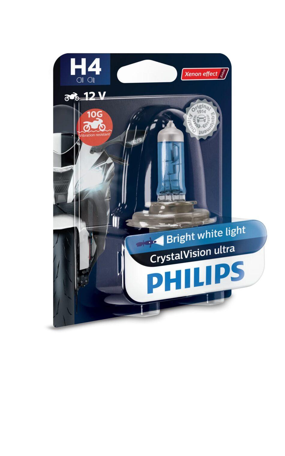 Lampada Farol Philips H4 12v 60/55w Cristal Vision Moto (12342cvmbw) Cb300r - Nx 400 Falcon - Nc700 - Cb500 - Shadow -