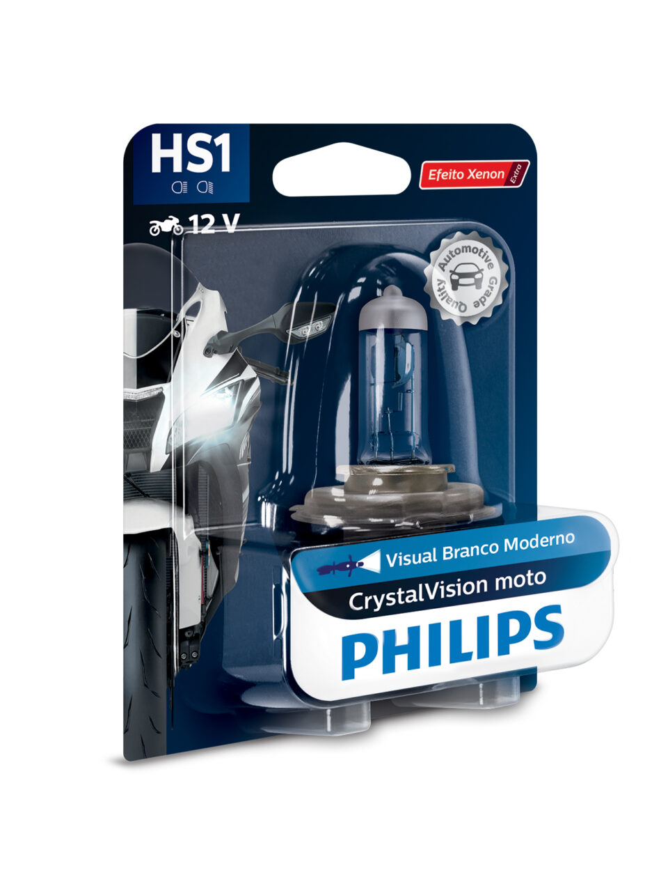 Lampada Farol Philips Hs1 12v 35/35w Cristal Vision Moto (12636cvmbw) Cg 160 - Cg 150 14/ - Fan125 2014/ - Fazer 150